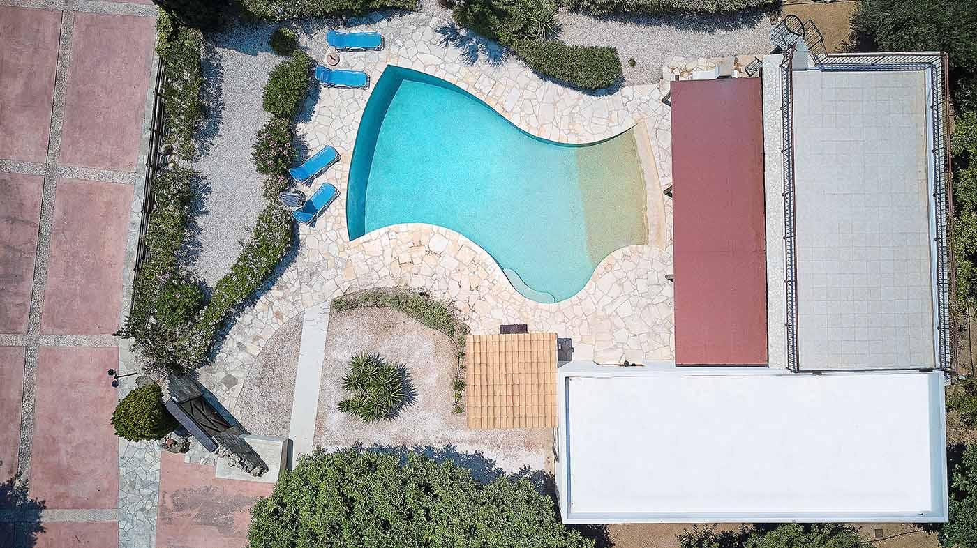 Villa Akakia Drone View | Amera Villas
